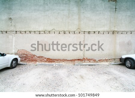 image from exteriors background texture series (alleyway building and walls)