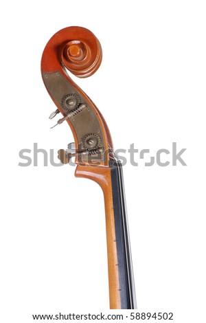 Image headstock bass. Isolated on white background