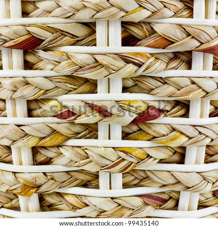 image is wicker basket for background - stock photo