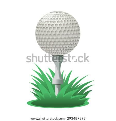Image of a cartoon Golf ball