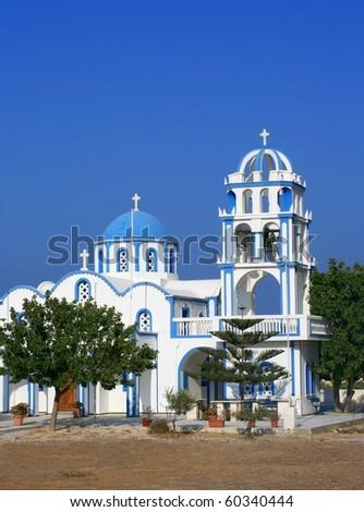 Image of a church on the greek island of santorini