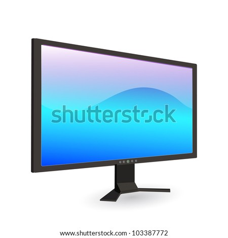 Image of a computer screen isolated on a white background.