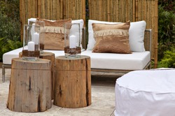 Image of a cozy seating area in the garden.