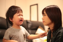 Image of a crying boy