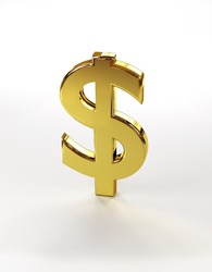 Image of a dollar sign isolated on a white background.