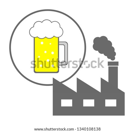 Image of a factory of beer.