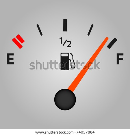 Image of a gas gage with a gray background.