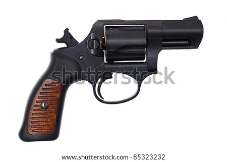 Image of a handgun on a white background