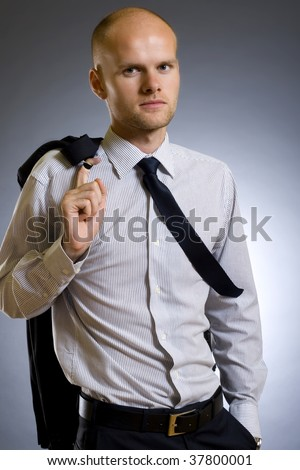 image of a handsome young businessman or fashion model