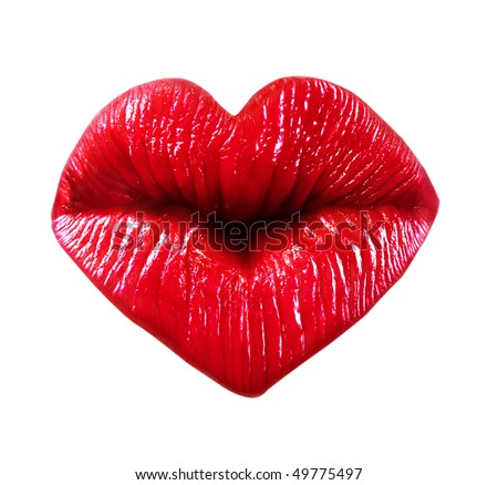 kissing lips isolated over Picture Of Lips Kissing