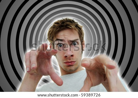 Image of a hypnotist brainwashing the viewer into a deep subconscious subliminal trance using secret mind control tactics.