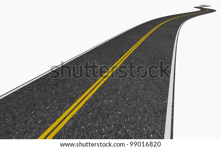 image of a long winding road disappearing into the vanishing point