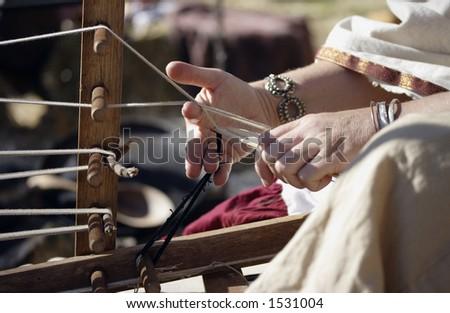 Image of a medieval loom