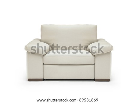 Image of a modern leather armchair isolated