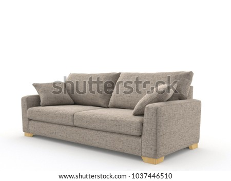 Image of a modern sofa isolated on white #1037446510