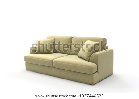 Image of a modern sofa isolated on white #1037446525