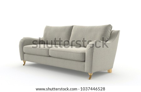 Image of a modern sofa isolated on white #1037446528