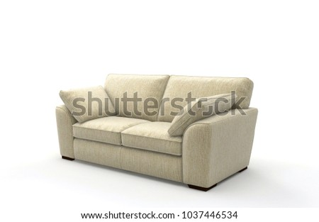 Image of a modern sofa isolated on white #1037446534