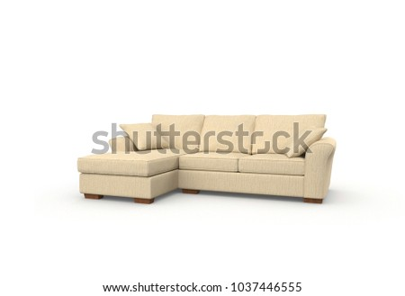 Image of a modern sofa isolated on white #1037446555