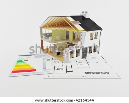 Image of a new home with energy saving certificate
