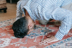image of a person prostrate