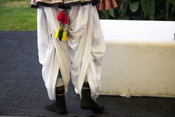 Image of a rajasthani person wearing a traditional dhoti