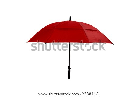 Image of a Red Umbrella on white with clipping path