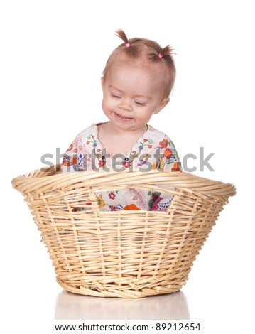 Image of a thanks giving baby in a basket.