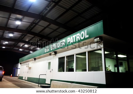 Image of a US border patrol building