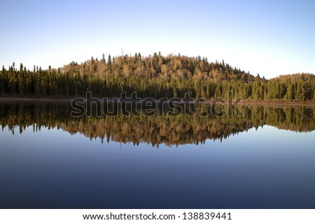 image of a wild lake early in the morning