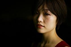 Image of a woman who sheds tears