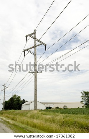 Image of a wooden telephone pole