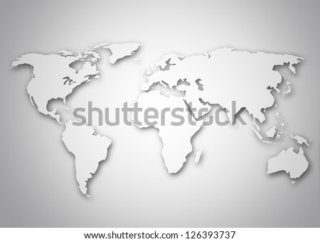 Image of a world map - stock photo