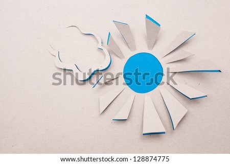Image of abstract  sun handmade.Eco background.