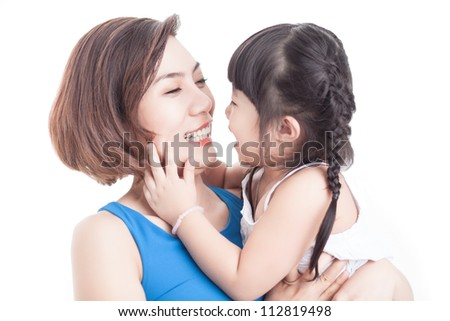 Image of adorable family sharing love and fun