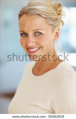 stock photo : Image of an elegant mature lady with a lovely smile
