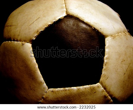 image of an old used football