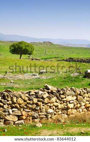 Image of ancient ruins - stock photo