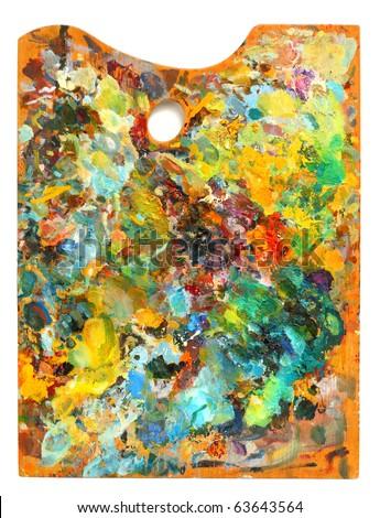 Image of artist's palette over white