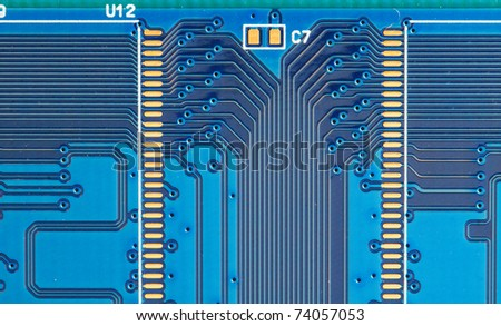 image of back view of a DDR memory module