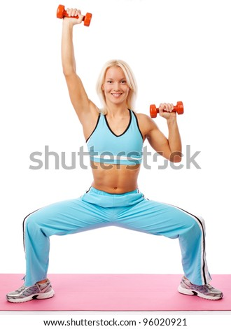 Image of beautiful athletic woman