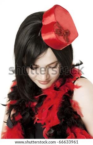 Image of beautiful girl in fancy dress