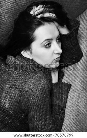 image of beautiful woman portrait