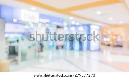 image of big retail Shop Blurred background .
