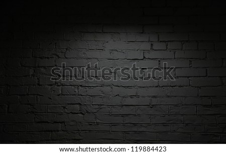 Image of black brick wall background