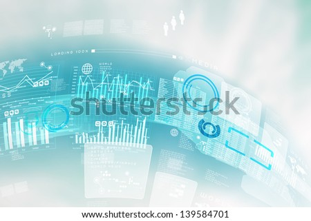 Image of blue hightech background. Business background