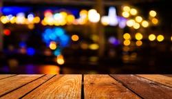 image of  blurred bokeh background with warm orange lights