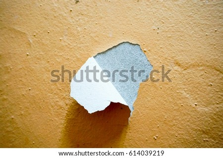 Image of building or wall defect  - peeling paint Stock photo ©