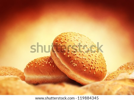 Image of buns with sesame seeds