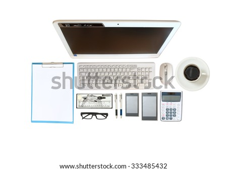 image of business and financial report on white desk